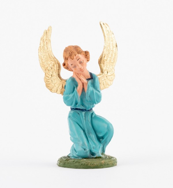 Kneeling angel for creche traditional colours 10 cm.