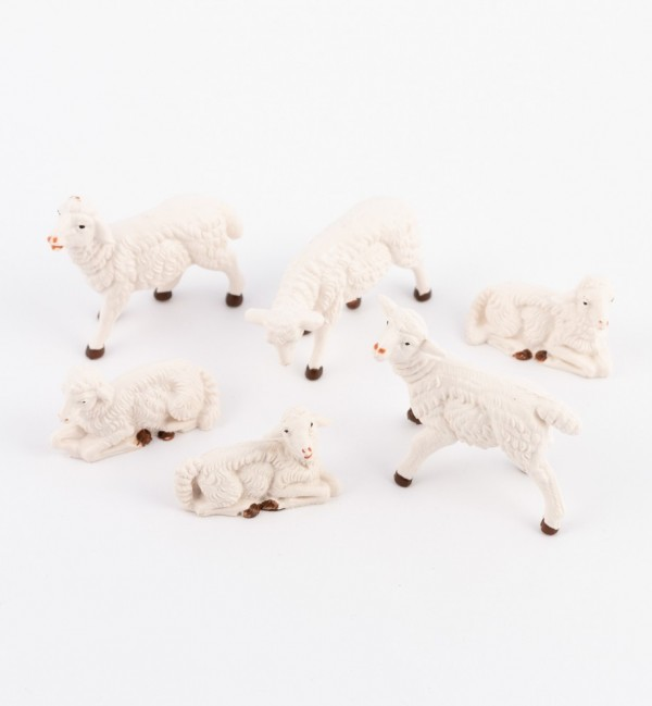 Sheep for creche traditional colours 10 cm.