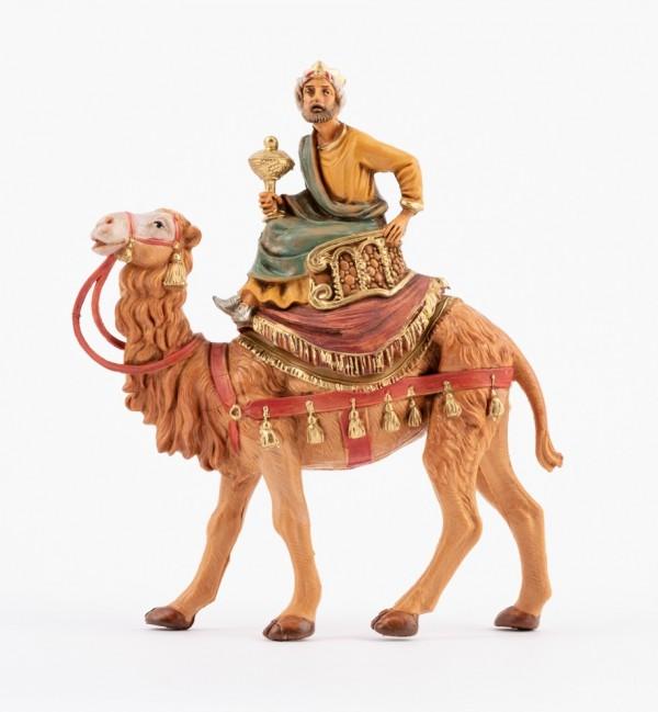 King on camel (2) for creche 10 cm.