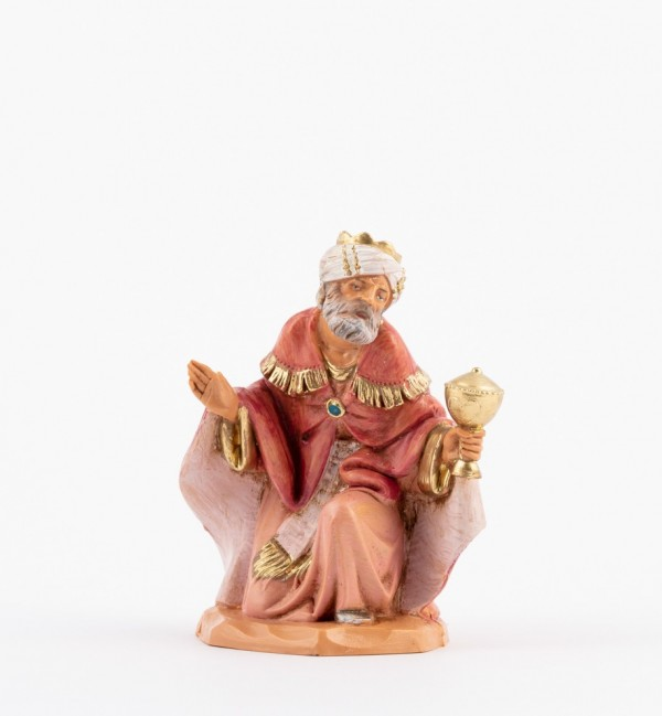 King in old style (5v) for creche 12 cm.