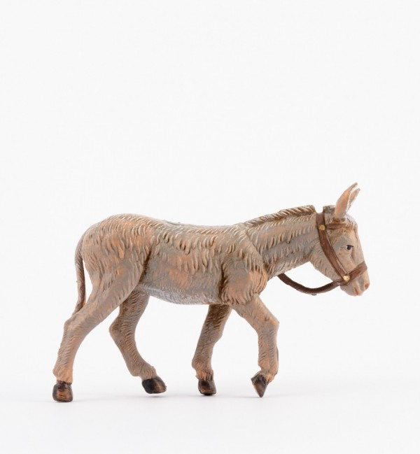 Standing donkey for creche 12 cm.