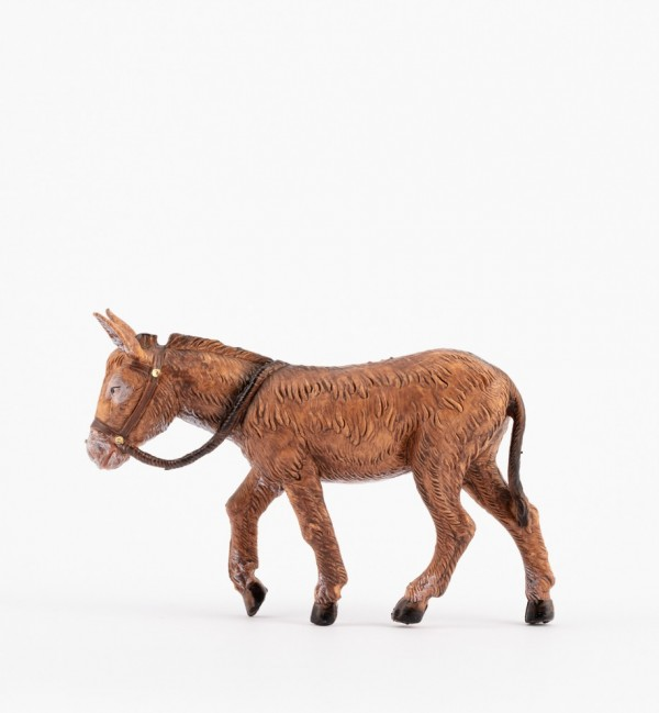 Brown standing donkey for creche 12 cm.