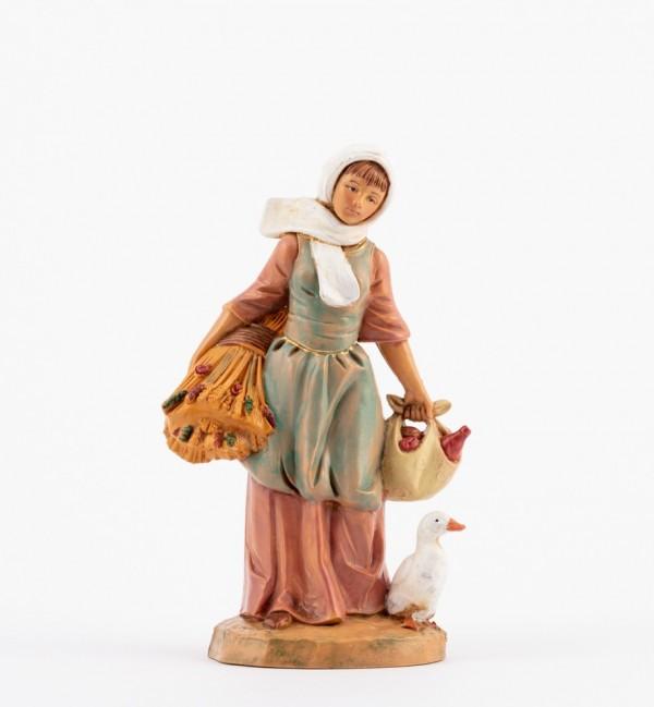 Shepherdess (156) for creche 12 cm.