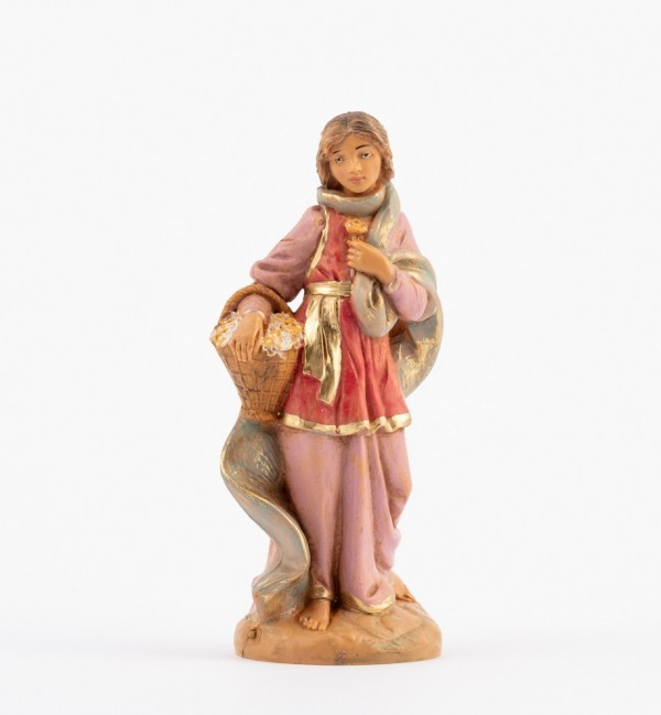 Shepherdess (186) for creche 12 cm.