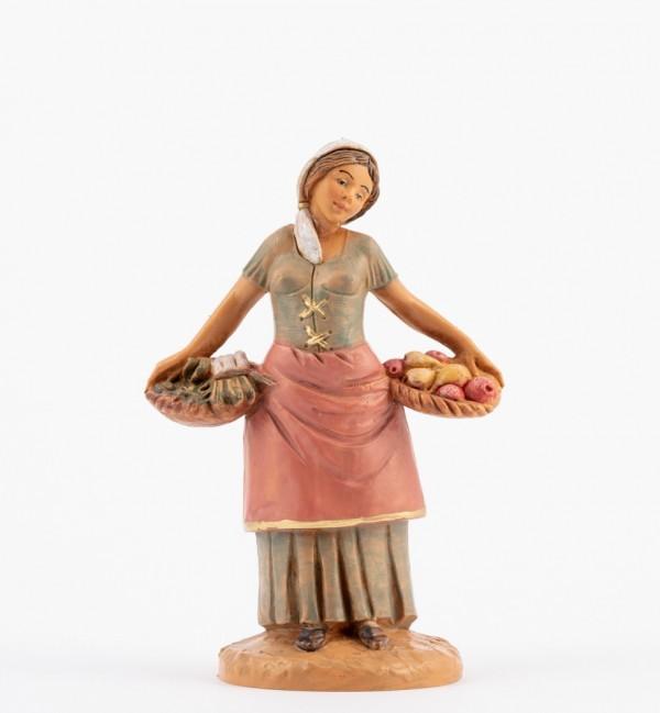 Shepherdess (187) for creche 12 cm.
