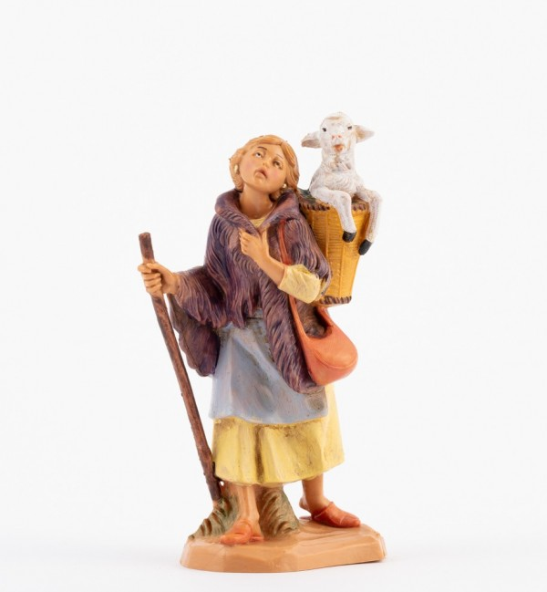 Shepherdess (197) for creche 12 cm.