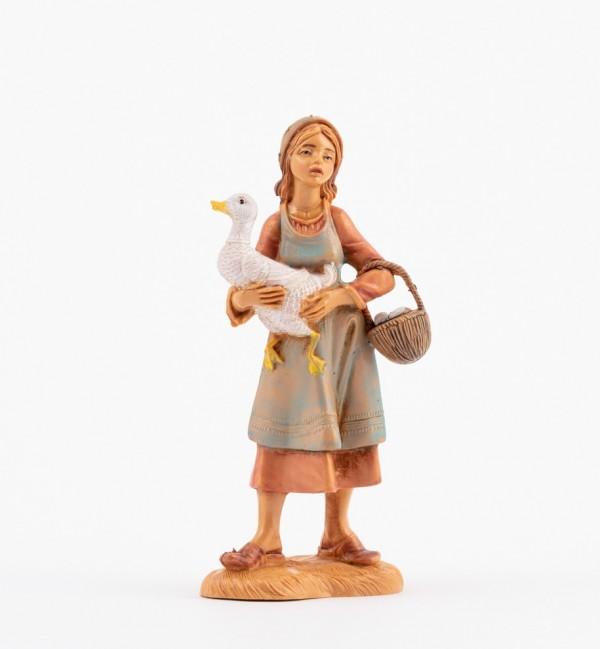 Shepherdess (110V) for creche 12 cm.