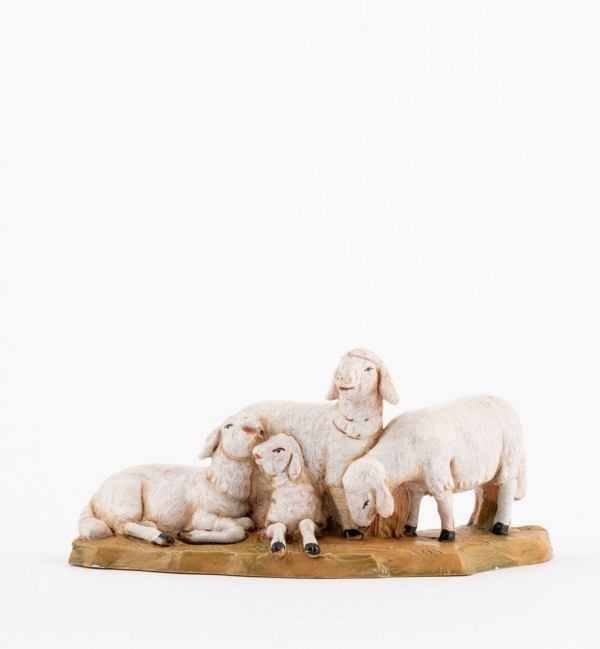 Sheep herd for creche 12 cm.