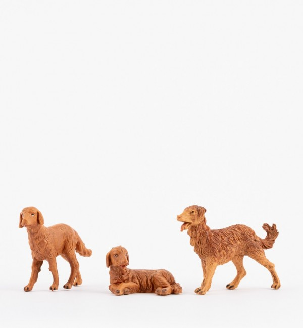 Dogs for creche 12 cm.