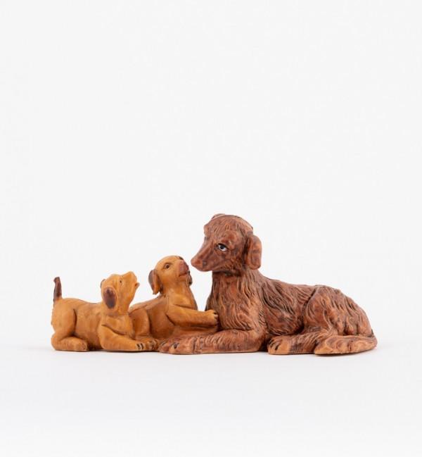 Dog family for creche 12 cm.