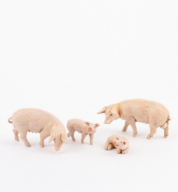 Pig family for creche 12 cm.