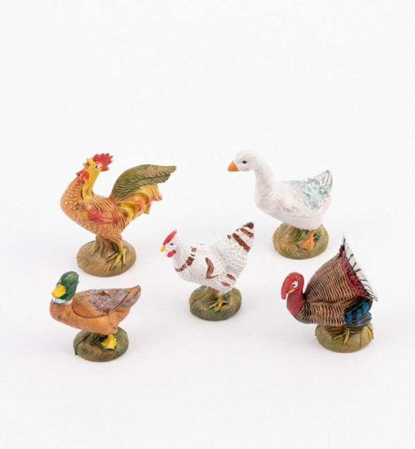 Court yard animals for creche 11 cm. and 12 cm.