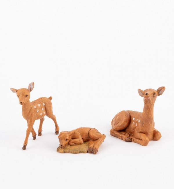 Deer family for creche 12 cm.