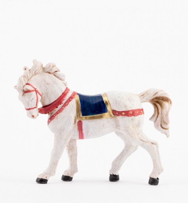 White horse for creche 12 cm.