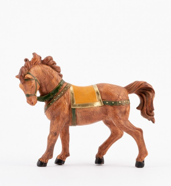 Brown horse for creche 12 cm.