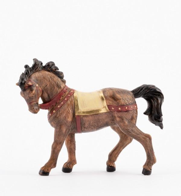 Black horse for creche 12 cm.