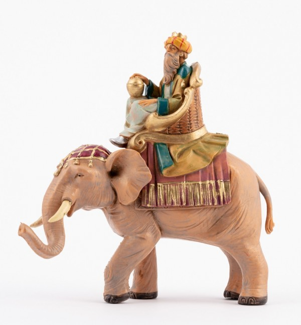 King on elephant for creche 12 cm.