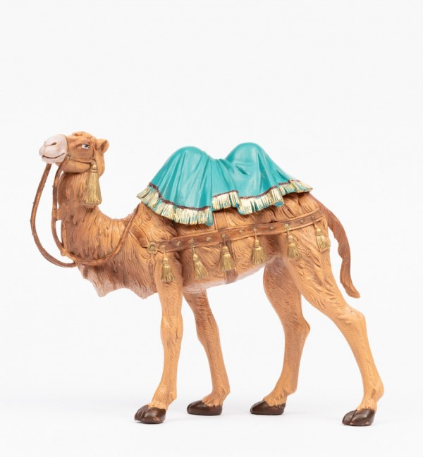 Standing camel for creche traditional colours 19 cm.