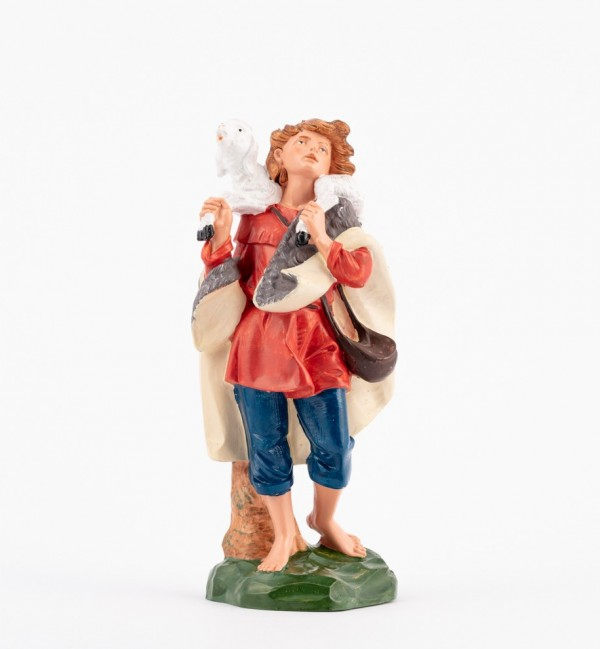 Shepherd (332) for creche traditional colours 19 cm.