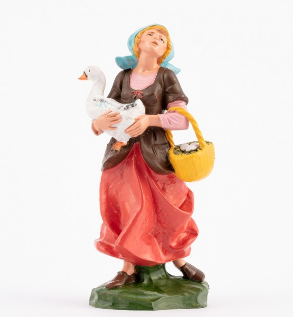 Shepherdess (349) for creche traditional colours 19 cm.