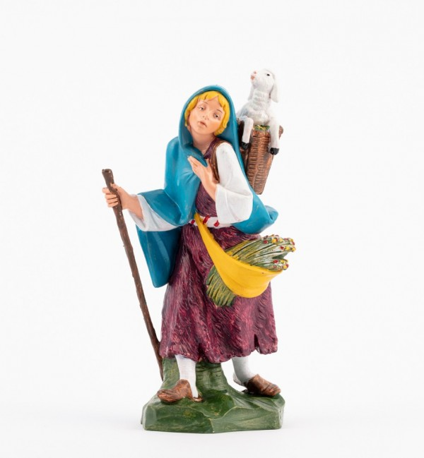 Shepherdess (350) for creche traditional colours 19 cm.