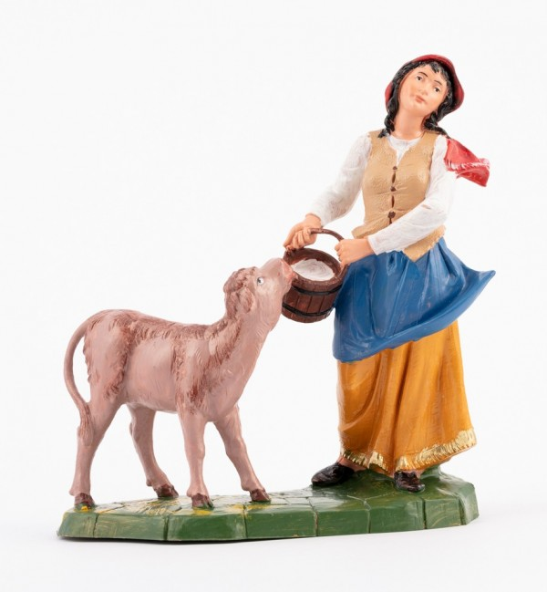 Shepherdess (362) for creche traditional colours 19 cm.