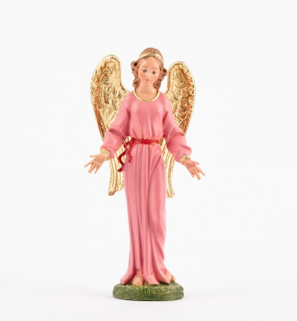 Standing angel for creche traditional colours 19 cm.