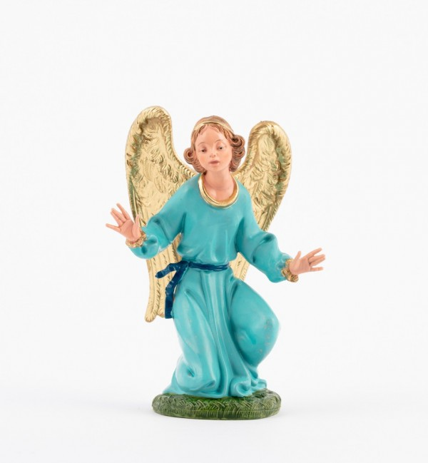 Kneeling angel for creche traditional colours 19 cm.