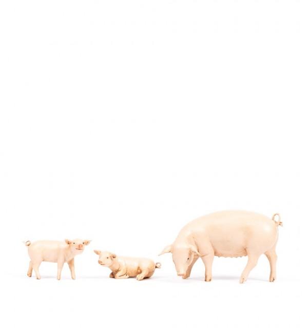 Pig family for creche 19 cm.