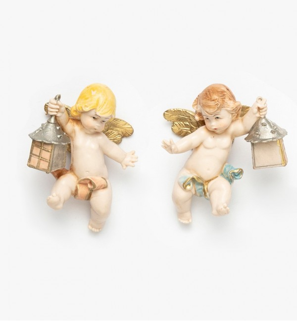 Angels with lamp (196-7) porcelain type 7 cm.