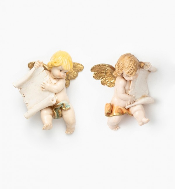 Angels with parchment (396-7) porcelain type 7 cm.