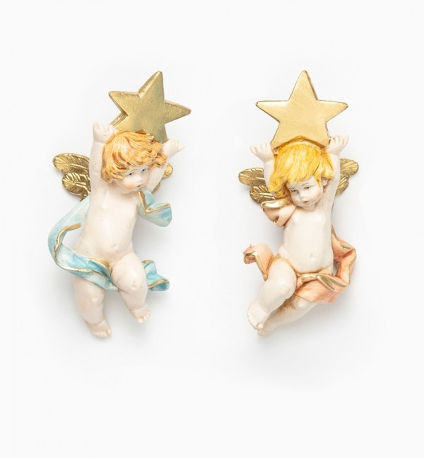 Angels with star (696-7) porcelain type 7 cm.