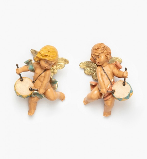 Angels with drum (796-7) 7 cm.