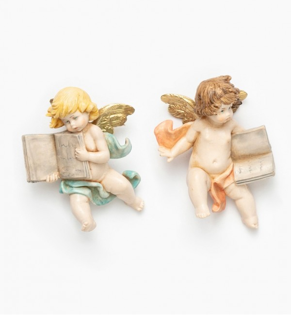 Angels with book (896-7) porcelain type 7 cm.