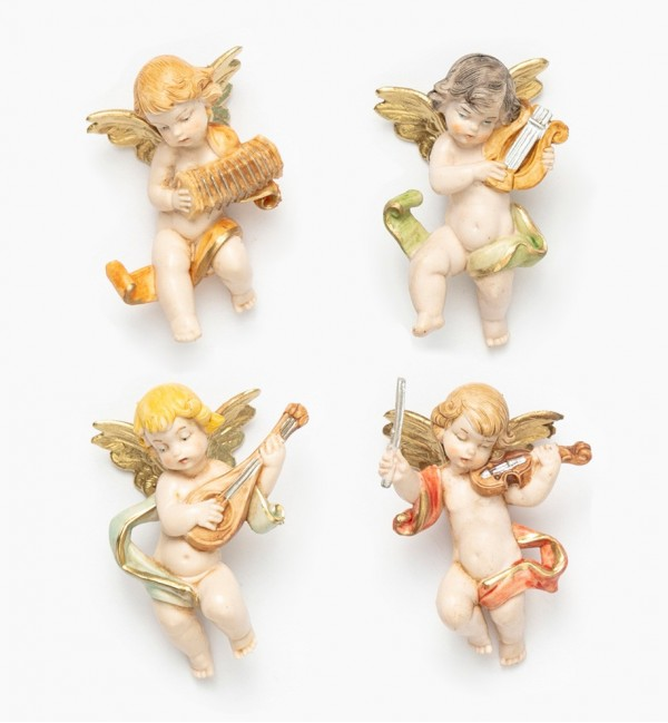 Musician angels (3/6) porcelain type 6 cm.