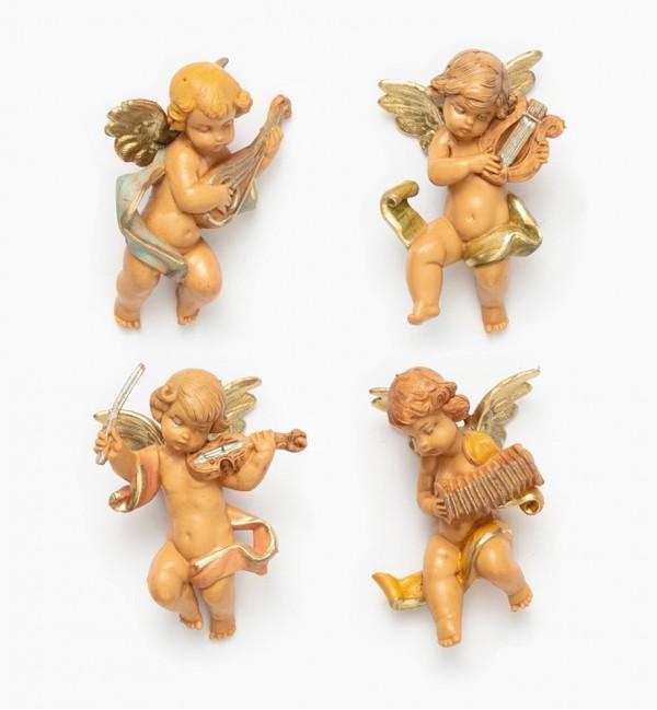 Musician angels (3/6) 6 cm.