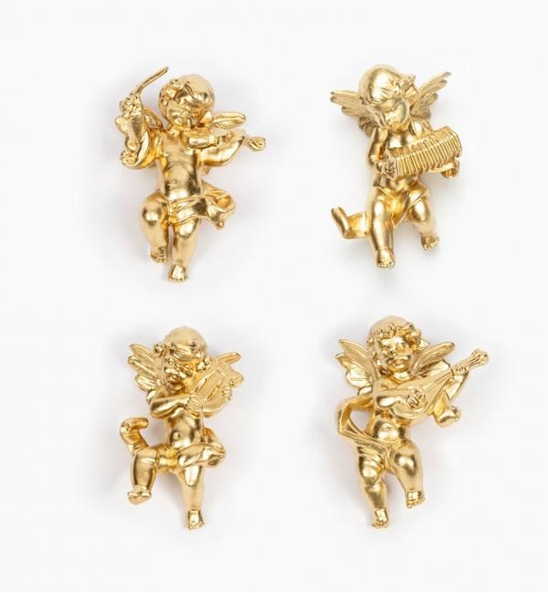 Musician angels (3/6) golden type 6 cm.