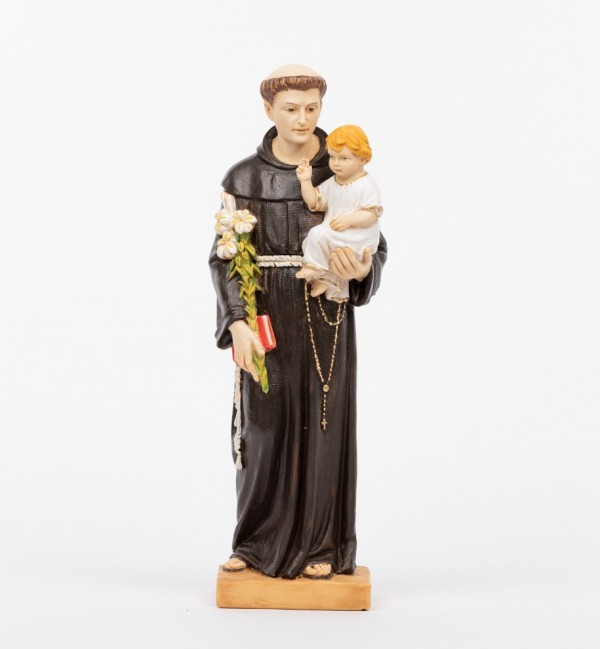 Saint Anthony with Child in resin 52 cm.