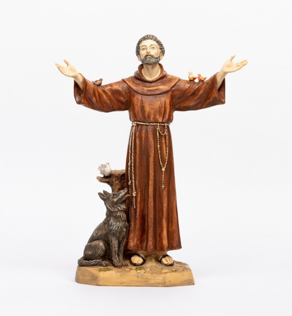 Saint Francis in resin 51 cm.