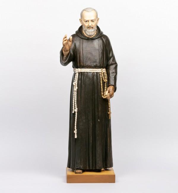 Padre Pio in resin 100 cm.