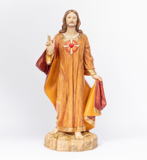 Sacred Hearth in resin 109 cm.