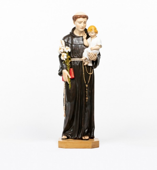 Saint Anthony in resin 104 cm.