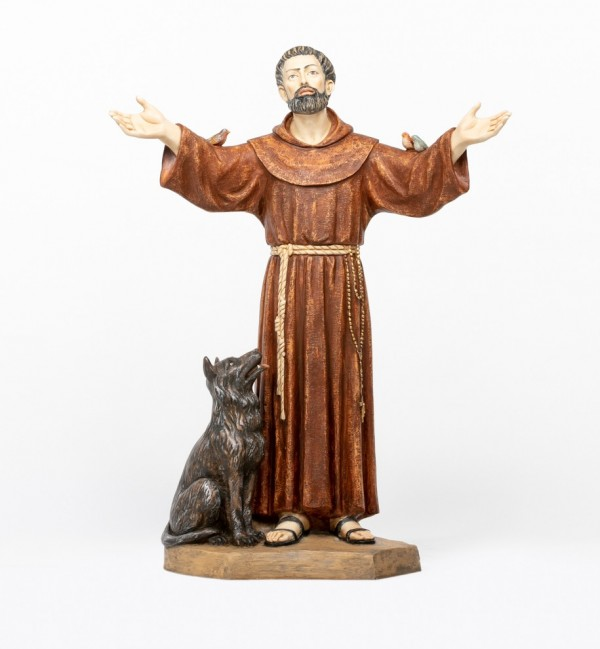 Saint Francis in resin 100 cm.
