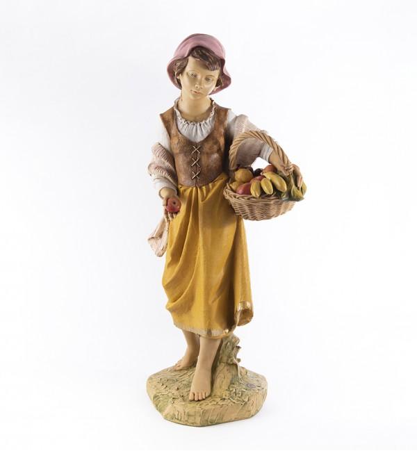 Shepherdess (6) in resin for creche 125 cm.