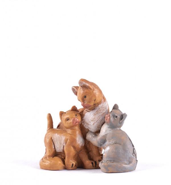 Cat family for creche 12 cm.