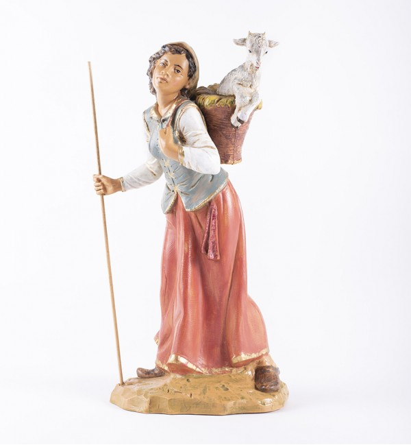 Shepherdess (61) for creche 30 cm.