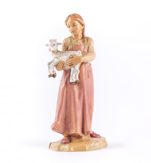 Shepherdess (390) for creche 19 cm.